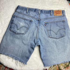 Levi's 505 Distressed Cutoffs Denim Mid Shorts
